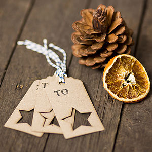 Rustic Lasercut Star Gift Tags - finishing touches