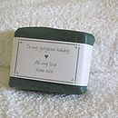 personalised soap for him wrapped in dark green