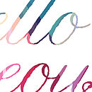 'Hello Gorgeous' Typography Print