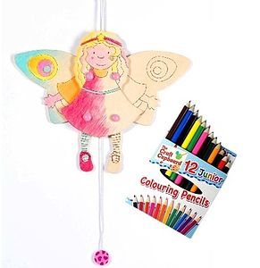 Decorate A Jumping Jack Angel Toy Craft Kit