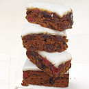 handmade brandied iced christmas cake four pieces