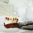 handmade christmas cake and spiced mulled tea