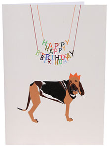 Happy Hound Happy Birthday Card