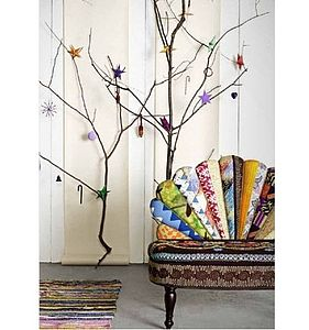 Peacock Patchwork Sofa - living room