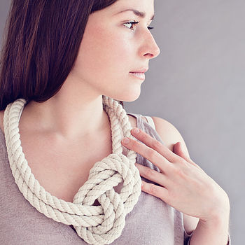 Cotton Knot Necklace