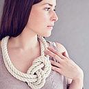 Cotton Knot Necklace