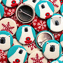 Stocking Filler Polar Bear Christmas Badges