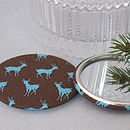 brown and blue deer mirror