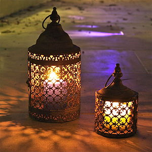 Pair Of Moorish Lanterns - cosy outdoor inspiration