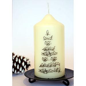 Vintage Style Christmas Tree Bird Candle