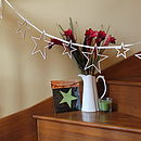 Star Streamers Wooden Garland