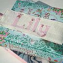 Personalised Floral Bookmark