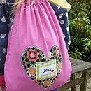 Personalised bag - example girl themed fabric