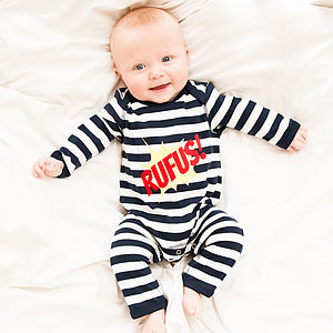 Personalised Kapow Romper - babygrows