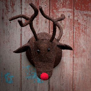 Brown Felt Reindeer Head