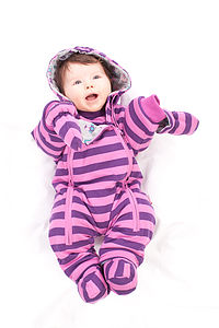 Girl's Striped Pramsuit - clothing