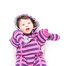 Girl's Striped Pramsuit