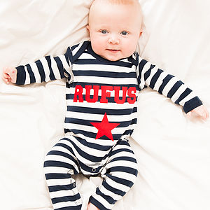 Personalised Single Star Romper - gifts for babies