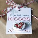 Christmas Handmade Heart Badge