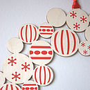 screenprint christmas decoration