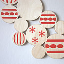 Modern graphic screen printed Christmas wreath