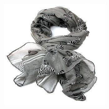 Lightweight Zebra Scarf