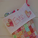 Girls close up personalised stocking