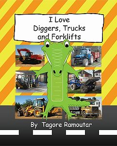 'I Love Diggers Trucks And Forklifts' Book - toys & games