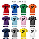 Child's T-Shirt Colours (Black Design)