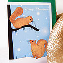 Christmas Card Or Pack With Squirrels