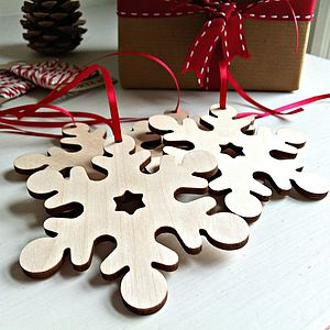 Wooden Paint Your Own Christmas Snowflake - christmas trees & tree decorations