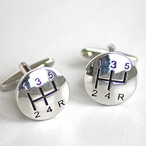 Gear Lever Cufflinks - men's accessories