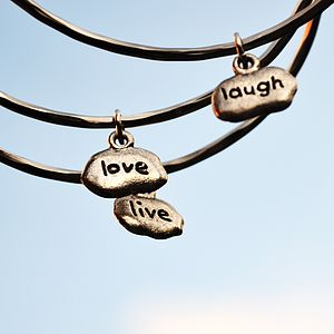 Live Love Laugh Bangles - women's jewellery