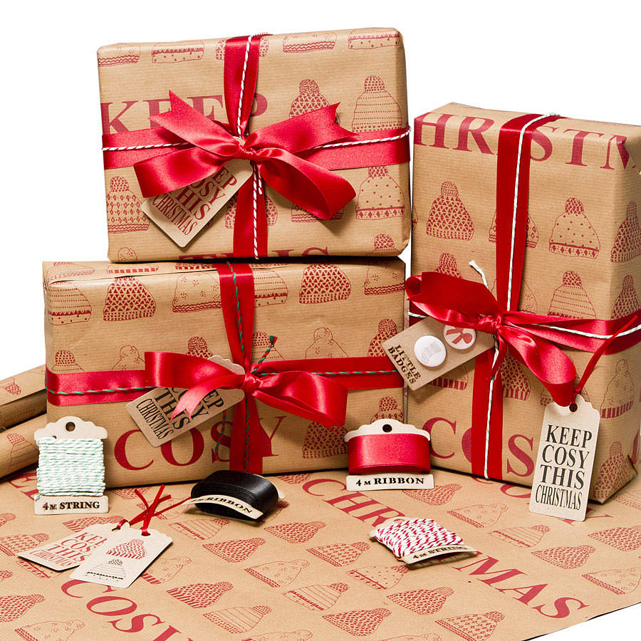 'keep Cosy This Christmas' Wrapping Paper By Sophia ...