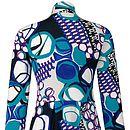 Knightsbridge Blue Print Easy Jersey Dress