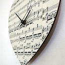 Handmade Personalised Vintage Music Clock