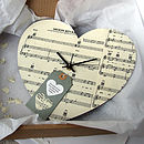 Handmade Personalised Vintage Music Clock