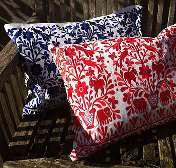 Embroidered Folk Cushions