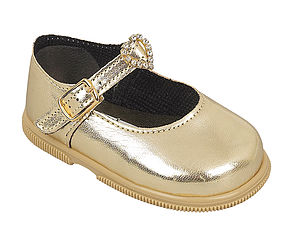 Little Girl Golden Shoes
