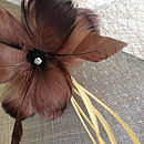 Smoke Sinamay, Chocolate Flower, Tea Veiling, Cream Swirl