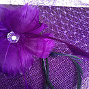 Purple Sinamay, Purple Flower, Purple Veiling, Purple Swirl