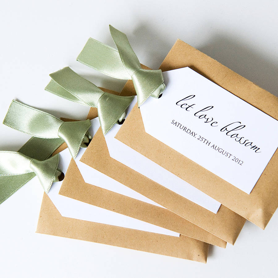 flower seed wedding favors seed packet and personalised tag favour by twenty seven 4208