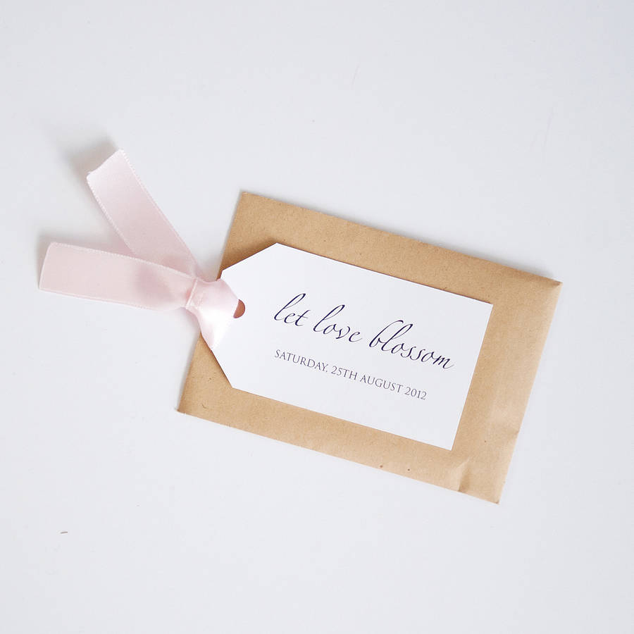 seed packet and personalised tag favour by twenty-seven ...