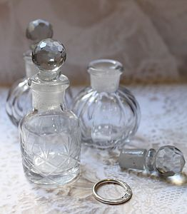 Crystal Cut Glass Perfume Bottles