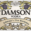 Personalised Damson Vodka