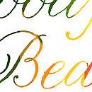 'Good Morning Beautiful' Typography Print