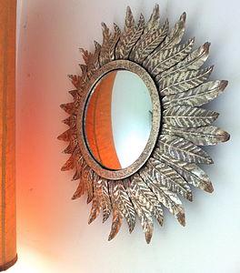 Silver Leaf Mirror - bedroom