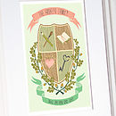 Personalised Family Crest Print