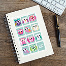 Personalised Owls Notebook