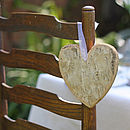 Wooden Bark Hanging Heart